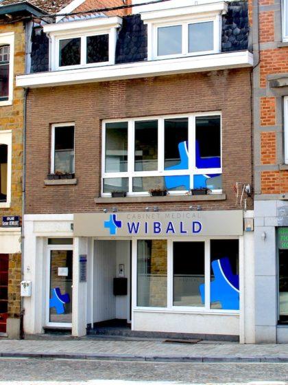 facçade du cabinet médical Wibald à Stavelot